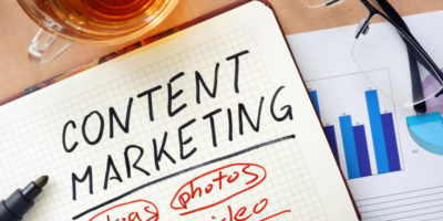 Notepad that reads content marketing